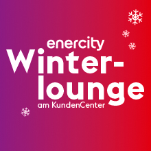 Die enercity Winterlounge am KundenCenter